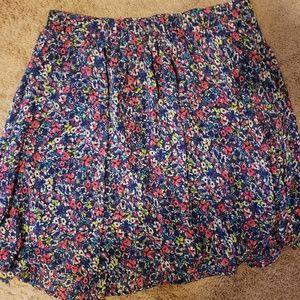 Torrid Bright Floral Skirt